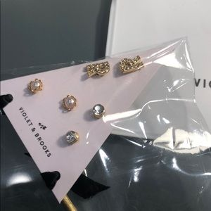 """Violet and Brooks Jewelry - """"R"""" Violet and Brooks Personalized Earrings Set"""